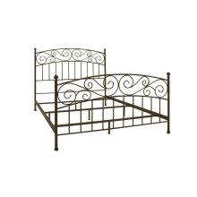 Metal Bed In Dark Bronze Finish