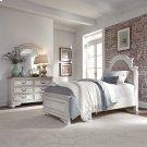 Full Upholstered Bed, Dresser & Mirror Product Image