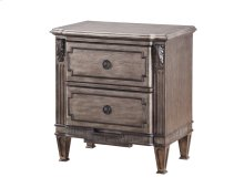 Emerald Home Allure 2 Drawer Nightstand Weathered Grey B731-04