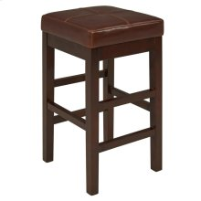 Valencia Backless Leather Counter Stool, Cognac