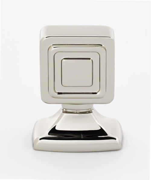 Cube Knob A986-78 - Polished Nickel