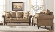 7650 Momentum Khaki Sofa and Loveseat