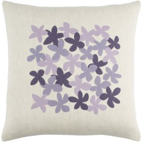 "Little Flower LE-004 22"" x 22"" Pillow Shell with Down Insert"
