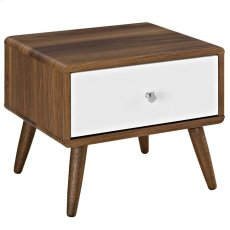 Transmit Nightstand in Walnut White Product Image