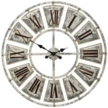 Antique Metal Wall Clock  31in X 31in
