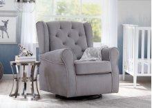 Emerson Nursery Glider Swivel Rocker Chair - Dove Grey with Soft Grey Welt (036)