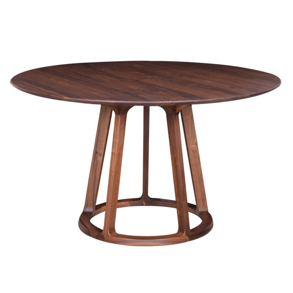 Aldo Round Dining Table Walnut