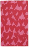 Hearts Dark Red Loop Hooked Rugs