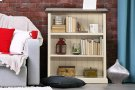 Tuscan Retreat® Low Bookcase - Country White With Antique Pine Top Product Image