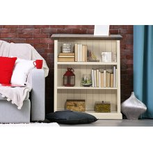 Tuscan Retreat® Low Bookcase - Country White With Antique Pine Top