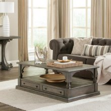 Juniper - Rectangular Coffee Table - Charcoal Finish