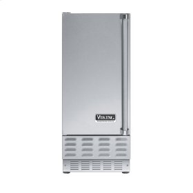 """Stainless Steel 15"""" Ice Machine - VUIM (Left Hinge Door)"""