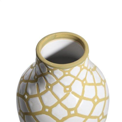White/tan Ceramic Vase