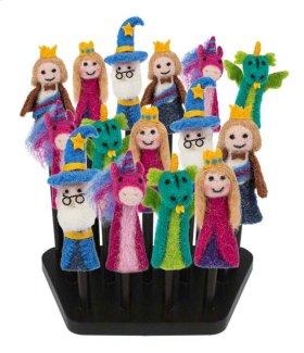 16 pc. assortment. Woolen Fairytale Finger Puppets & Counter Display