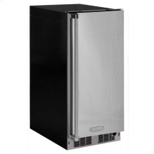 """15"""" Clear Ice Machine with Tri-Color Illuminice Lighting - Solid Stainless Steel Door, Integrated Right Hinge, Professional Handle"""