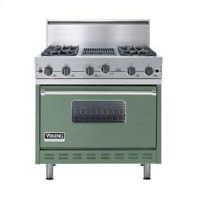 "Mint Julep 36"" Open Burner Commercial Depth Range - VGRC (36"" wide, four burners 12"" wide char-grill)"