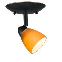 1 light, Orbit, round,120V,GU-10, 50W each, bulbs included