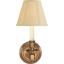 Visual Comfort S2110HAB-T Studio French Library 1 Light 6 inch Hand-Rubbed Antique Brass Decorative Wall Light in Tissue Silk