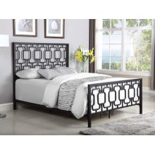 Annabella Transitional Black Eastern King Bed