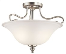 Tanglewood 2 Light Semi Flush Brushed Nickel