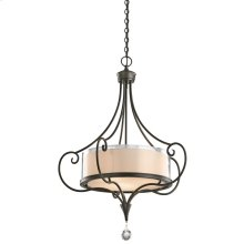 Lara Collection Lara 3 Light Chandelier/ Pendant in Shadow Bronze