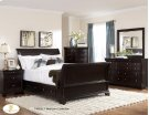 Queen Sleigh Platform Bed with Rail Storage Product Image