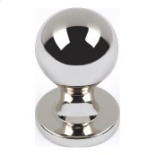 Nipple Knob 3/4 Inch - Polished Nickel
