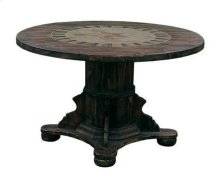 """48"""" Round Ped Table W/Stone & Star"""