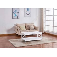6602 White Coffee Table