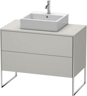 Vanity Unit For Console Floorstanding, Concrete Gray Matt Decor