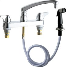 Hot and Cold Water Sink Faucet with Side Spray