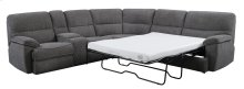 "3pc Sectional-lsf Power Console Love-wedge-rsf 4/6 Full Sleeper W/4""gel Mattress-platinum#zy6286-2"