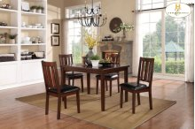 5-Piece Pack Dinette Set Table: 35.5 x 47.25 x 30H Chair: 18 x 20.5 x 38H