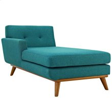 Engage Left-Facing Upholstered Fabric Chaise in Teal