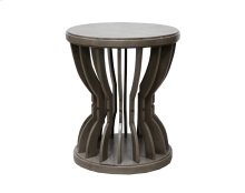 Round Lamp Table, Available in Distressed White or Distressed Grey Finish.