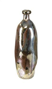 Ceramic Decorative Bottle, Gunmetal