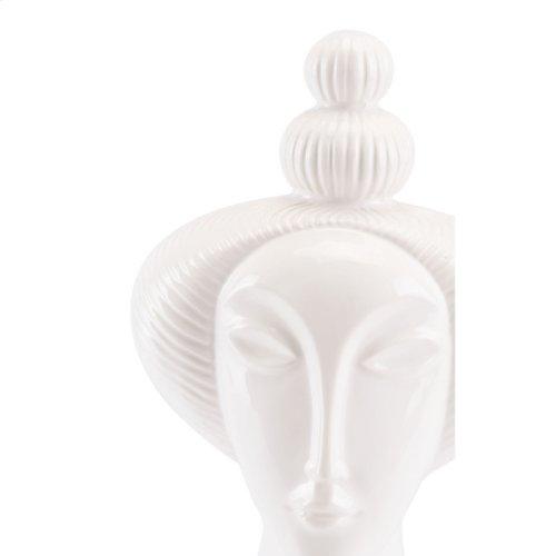 Geisha Figurine White