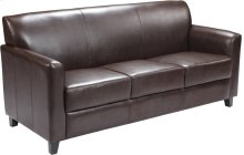 HERCULES Diplomat Series Brown Leather Sofa