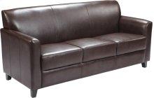 HERCULES Diplomat Series Brown Leather Sofa