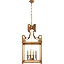 Visual Comfort NW5143GI Niermann Weeks Severn 4 Light 17 inch Gilded Iron Foyer Lantern Ceiling Light