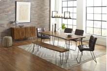 "Nature's Edge 79"" Dining Table With 4 Dawson Chairs"