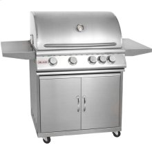 Blaze 32 Inch 4-Burner Grill With Rear Burner On Cart ,Fuel Type - Natural-gas