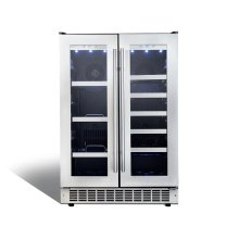 "Lorraine 24"" French door beverage center."