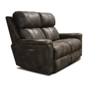 ENGLAND FURNITURE Ez Motion Double Reclining Loveseat With Nails E1c03hn