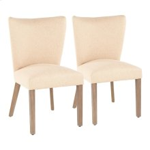 Addison Dining Chair - Set Of 2 - Ash Brown Wood, Light Brown Fabric