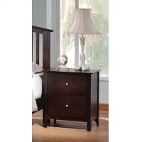 Tia Cappuccino Two-drawer Nightstand Product Image
