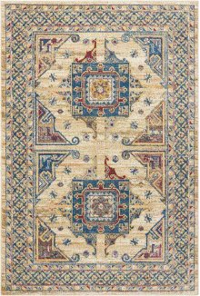 Cordoba Crd01 Ivory Blue Rectangle Rug 5'3'' X 7'3''