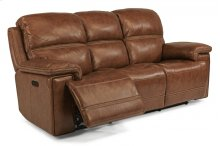 Fenwick Leather Power Reclining Sofa with Power Headrests