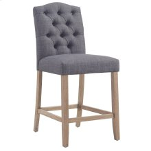 """Lucian 26"""" Counter Stool in Grey, 2pk"""