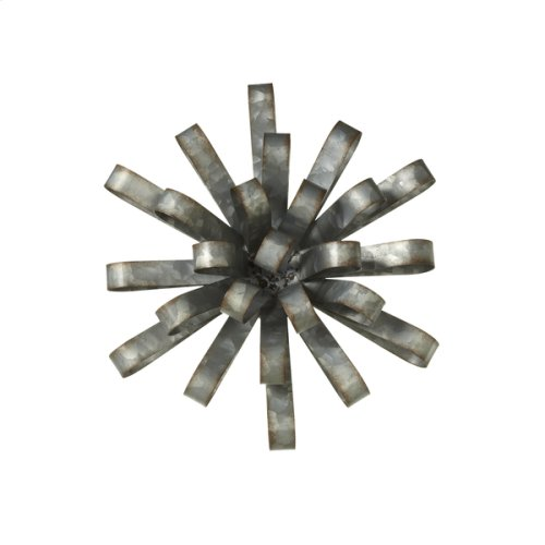 Small Galvanized Dimensional Flower Wall Decor